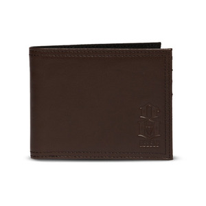 REBEL 8 LOGO BROWN LEATHER WALLET