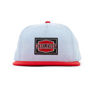 REBEL 8 WORK BADGE CHAMBRAY SNAPBACK