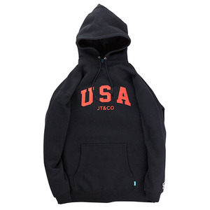 JT&CO USA PULLOVER HOODY (BLACK)