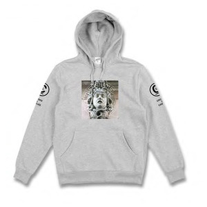 CROOKS & CASTLES Knit Hooded Pullover - Titan (Heather Grey)
