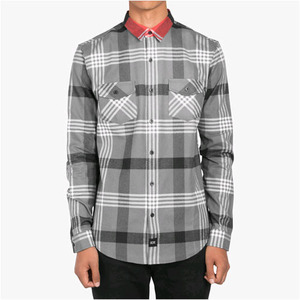 DOPE Contrast Color Flannel Button Up (Black)