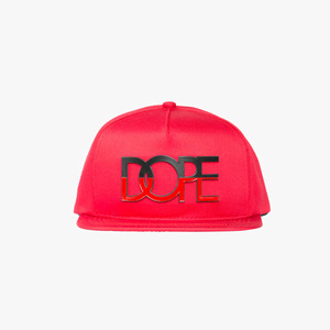 DOPE Two-Tone Metal Logo Snapback (Red)