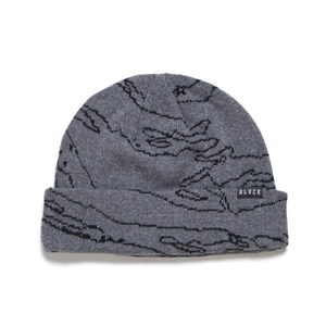 BLACK SCALE Covert Tiger Beanie (Grey)