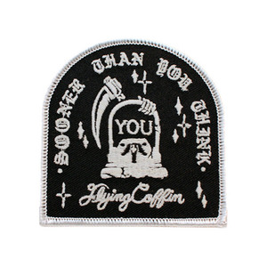 FLYING COFFIN SUDDEN DEATH PATCH (WHITE/GLOW)