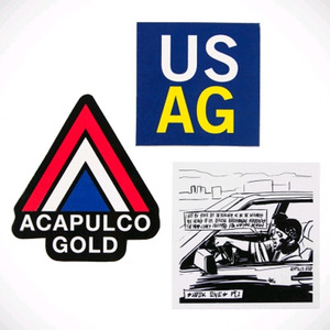 Acapulco Gold USAG/SHOOK ONES/PEAK STICKER PACK (BLUE/WHITE/YELLOW)
