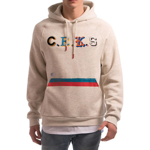 CROOKS & CASTLES Men's Knit Hooded Pullover - Maison (Heather Oatmeal)
