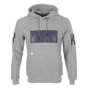 CROOKS & CASTLES Men's Knit Hooded Pullover - Lineage (Speckle Grey)