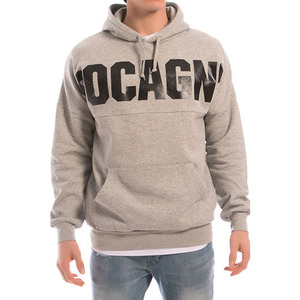 CROOKS & CASTLES Men's Knit Hooded Pullover -  Coca Dolman (Heather Grey)