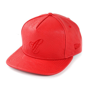 CROOKS & CASTLES Men's Woven Strapback Cap - Maison C (True Red)