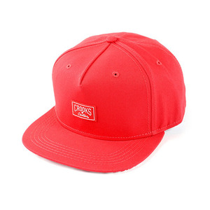 CROOKS & CASTLES Men's Woven Snapback Cap - Core Logo (True Red)