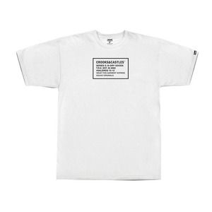 CROOKS & CASTLES Men's Knit Crew T-Shirt - Thermo Crks (White)