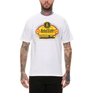 REBEL 8 CALLING SHOTS TEE (WHITE)