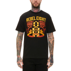 REBEL 8 BURNING BRIDGES TEE (BLACK)