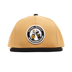 REBEL 8 GOOD CRIMES SNAPBACK (TAN)