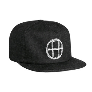 HUF DENIM CIRCLE H SNAPBACK (BLACK DENIM)