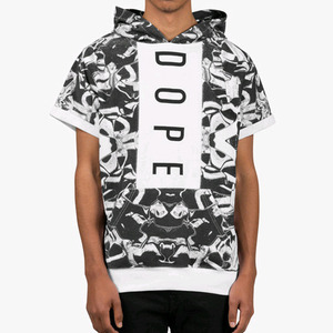 DOPE Paneled Liquid Metal S/S Pullover (Black/White)