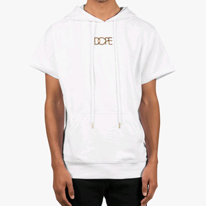 DOPE Paneled Gold Logo S/S Pullover (White)