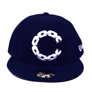 CROOKS & CASTLES 11SP CHAIN C FITTED NEW ERA (NAVY)
