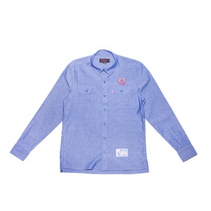 MISHKA Loose Lips Button Up (Blue Corn)