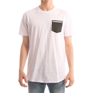 CROOKS & CASTLES Men's Knit Pocket T-Shirt - Stonewall (White)