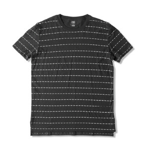 CROOKS & CASTLES Men's Knit Crew T-Shirt - Storm (Black)