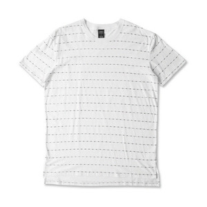 CROOKS & CASTLES Men's Knit Crew T-Shirt - Storm (White)