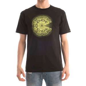 CROOKS & CASTLES Men's Knit Crew T-Shirt - Mirrors (Black)
