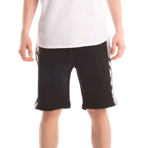 CROOKS & CASTLES Men's Knit Short- Black Moon (Black/Lt Grey Multi)
