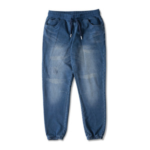 CROOKS & CASTLES Men's Knit Sweatpant - Mechanic (Washed Indigo)