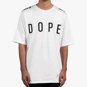 DOPE Knit Football Jersey (White)