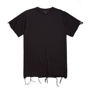 BLACK SCALE Destroyed T-Shirt (Black)