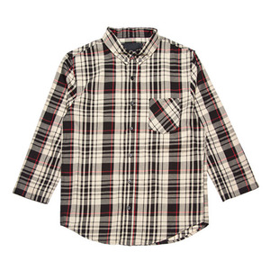 BLACK SCALE OPHIDIA BUTTON DOWN SHIRT (BLACK)
