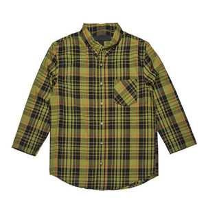 BLACK SCALE OPHIDIA BUTTON DOWN SHIRT (OLIVE)