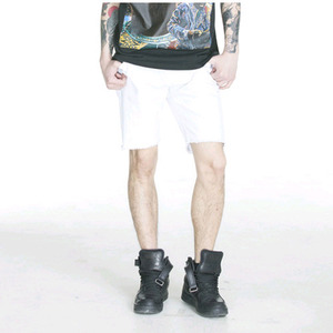 FNTY DAMAGE SHORTS (WHITE)