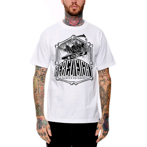 REBEL 8 SKATE AND DECEASED TEE