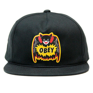 OBEY PULP COMIC SNAPBACK (BLACK)