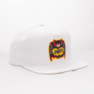 OBEY PULP COMIC SNAPBACK (WHITE)