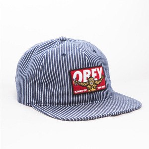 OBEY KINGS OF THE CITY HAT (NAVY HICKORY)