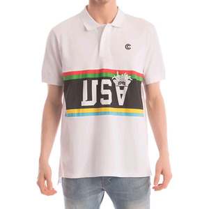 CROOKS & CASTLES  Knit S/S Polo - National (White)