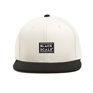 BLACK SCALE Quickhit Snapback Cream