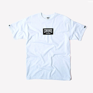 CROOKS & CASTLES  Knit Crew T-Shirt - Minibox Logo (White)