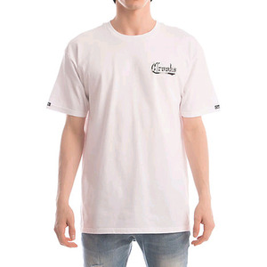 CROOKS & CASTLES Knit Crew T-Shirt - Bucktown Usa (White)