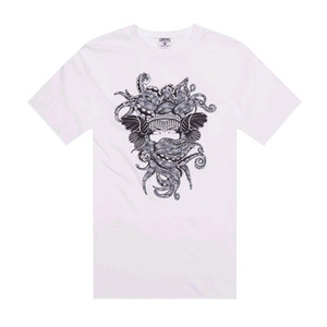 CROOKS & CASTLES Knit Crew T-Shirt - Tako Medusa (White)