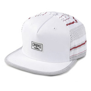 CROOKS & CASTLES Woven Strapback Cap - Lost Tribe (White)