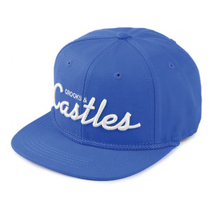 CROOKS & CASTLES Woven Snapback Cap - Team Crooks (Cobalt)