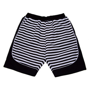 BLACK SCALE REBEL STRIPE SHORTS (BLACK)