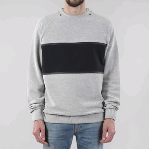 CROOKS & CASTLES Mens Knit Crew Sweatshirt - Iron (Dark Htr Grey)