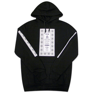 CROOKS & CASTLES Mens Knit Hooded Pullover - Native Cs (Black)