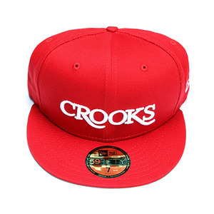 Men's Woven Fitted Cap - Serif Crooks (True Red)