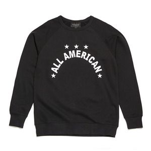 BLACK SCALE ALL AMERICAN CREWNECK (BLACK)